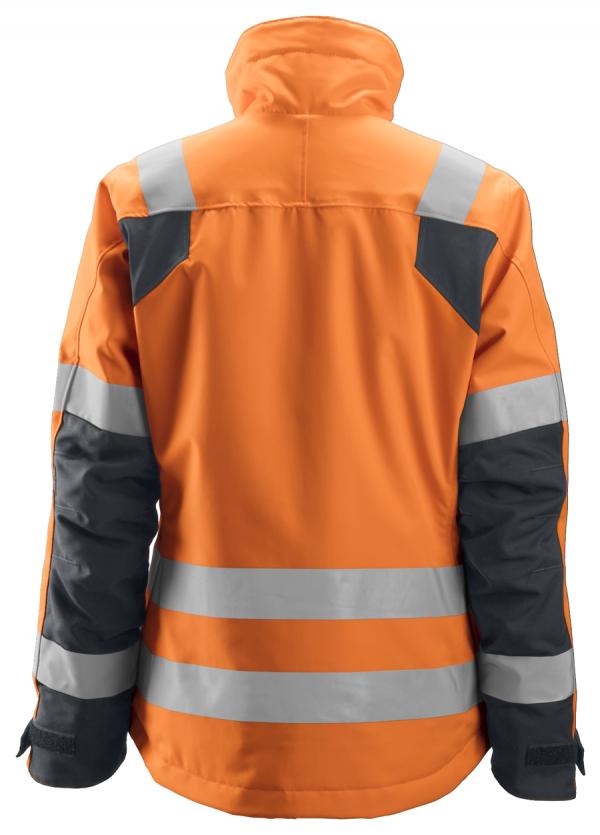 Snickers 1137 Naisten 37.5®-huomiotalvitakki, lk 2/3 | High vis orange\Steel grey - 5558 | V-liftverkkokauppa.fi
