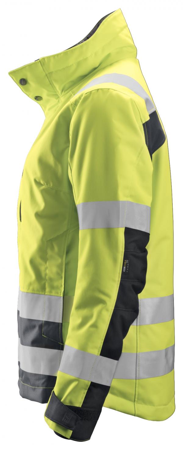 Snickers 1137 Naisten 37.5®-huomiotalvitakki, lk 2/3 | High vis yellow\Steel grey - 6658 | V-liftverkkokauppa.fi