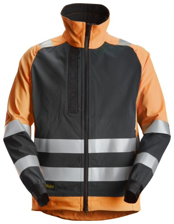 Uutuus! Snickers 1539 Vuoriton huomiotakki, lk 2 | High vis orange\Black - 5504 | V-liftverkkokauppa.fi