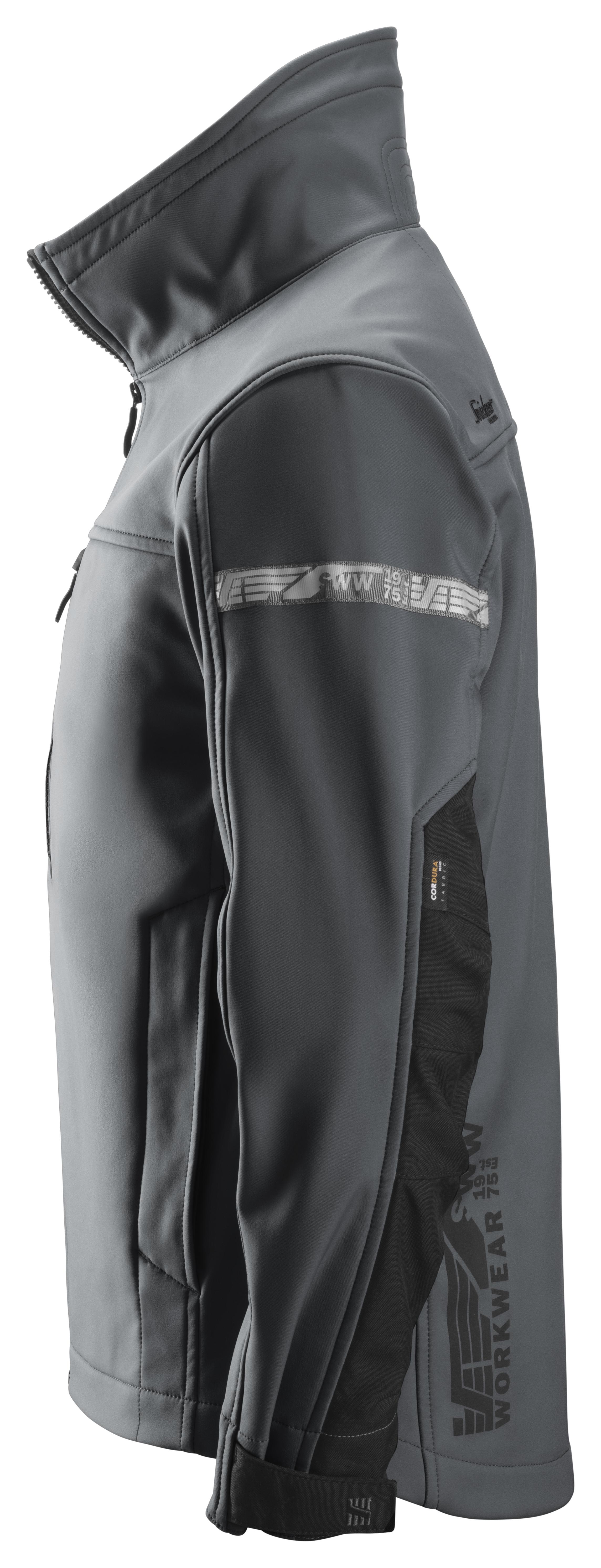 Snickers 1200 Soft Shell -takki | Steel grey\Black - 5804 | V-liftverkkokauppa.fi