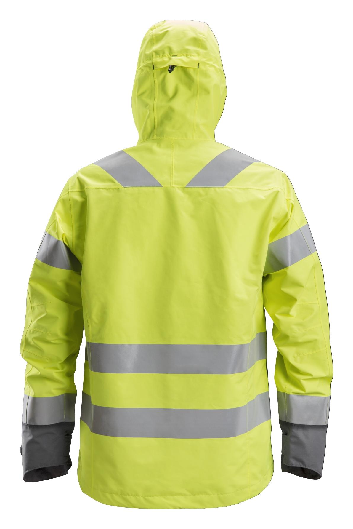 Snickers 1330 Vedenpitävä huomiokuoritakki, lk 3 | High vis yellow\Steel grey - 6658 | V-liftverkkokauppa.fi