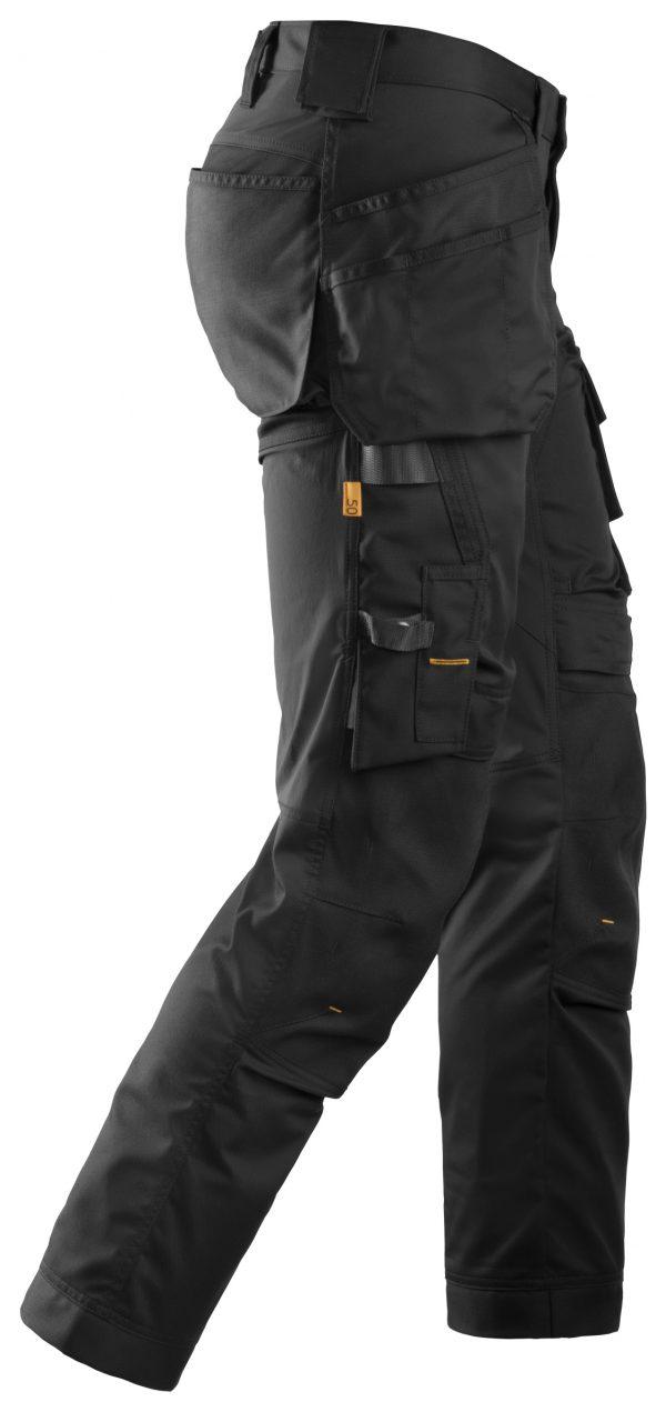 Snickers 6241 Stretchbyxa med hölsterfickor | Black\Black - 0404 | V-liftverkkokauppa.fi