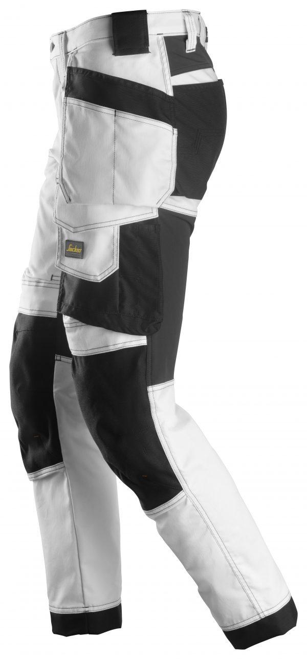 Snickers 6241 Stretchbyxa med hölsterfickor | White\Black - 0904 | V-liftverkkokauppa.fi