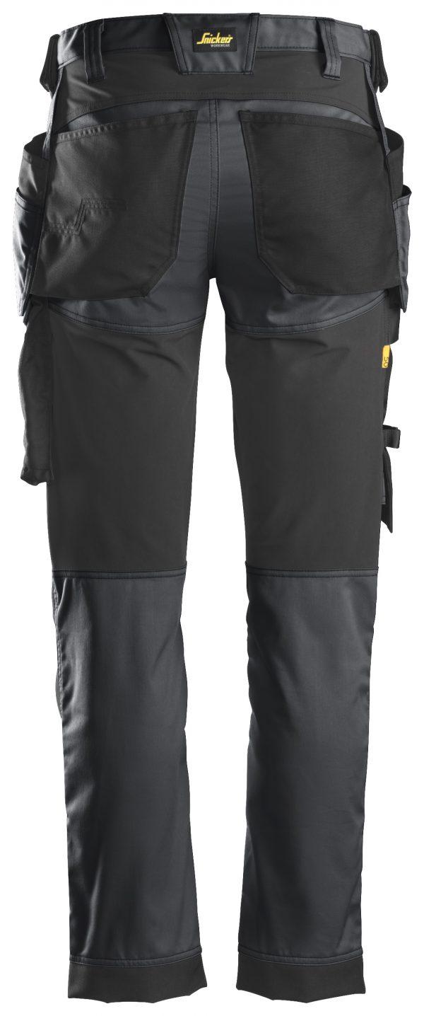 Snickers 6241 Stretchbyxa med hölsterfickor | Steel grey\Black - 5804 | V-liftverkkokauppa.fi