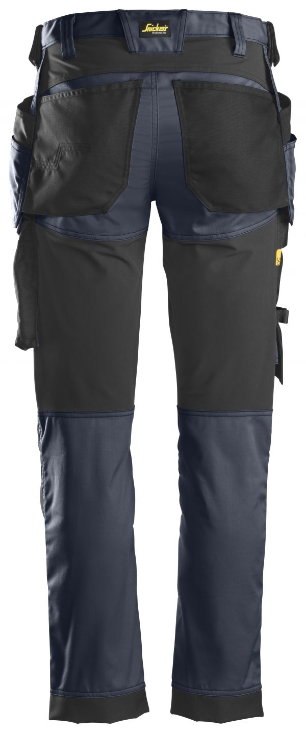 Snickers 6241 Stretchbyxa med hölsterfickor | Navy\Black - 9504 | V-liftverkkokauppa.fi