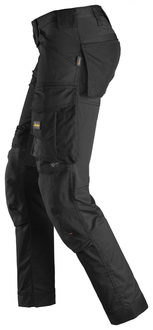 Snickers 6341 Stretch-housut | Black\Black - 0404 | V-liftverkkokauppa.fi
