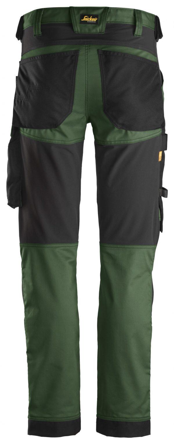 Snickers 6341 Stretch-housut | Forest Green\Black - 3904 | V-liftverkkokauppa.fi