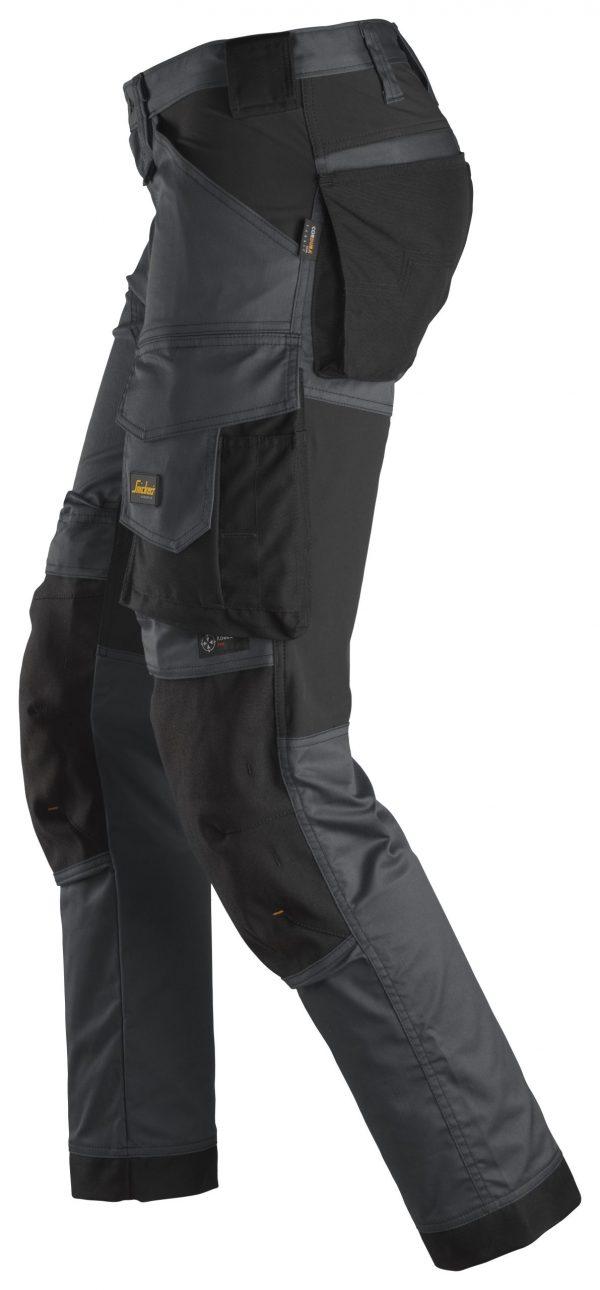 Snickers 6341 Stretch-housut | Steel grey\Black - 5804 | V-liftverkkokauppa.fi